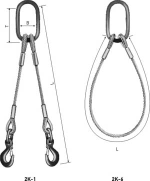 WIRE ROPE SLINGS, double