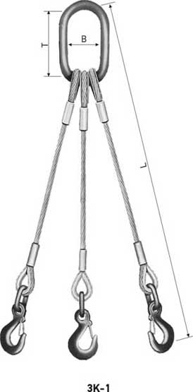 WIRE ROPE SLINGS, triple